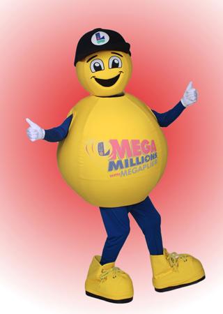 Mega Millions Louisiana Lottery Mascot Costume