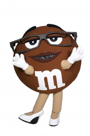 Ms. Brown M&M Mascot Costume