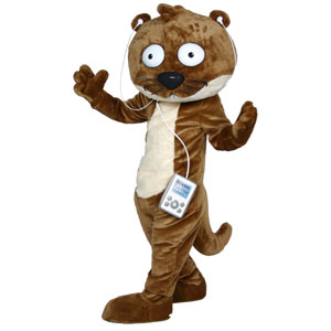 Ollie the Otter Mascot Costume