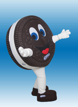 Oreo Cookie Mascot Costume