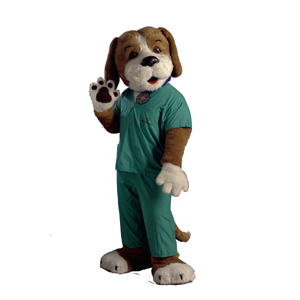 Scrubs the Health Hound Mascot Costume