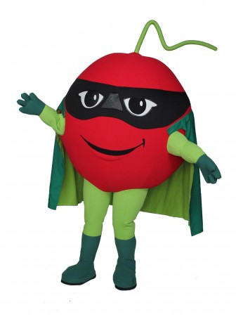 Super Cherry Mascot Costume