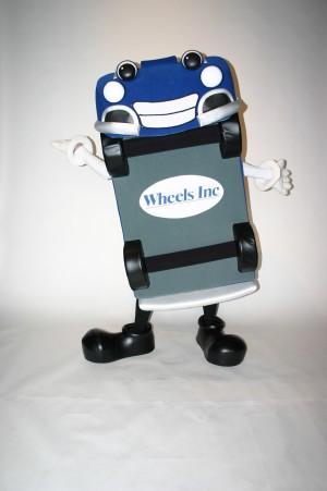 Wheelie Mascot Costume