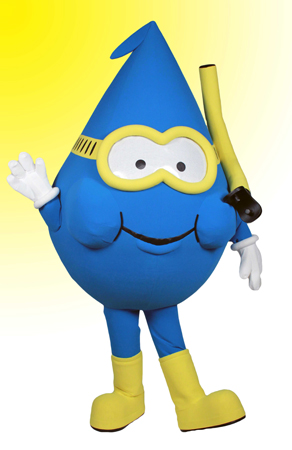 Willie Water Drop Mascot Costume