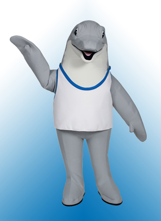 Dolphin mascot costume rental