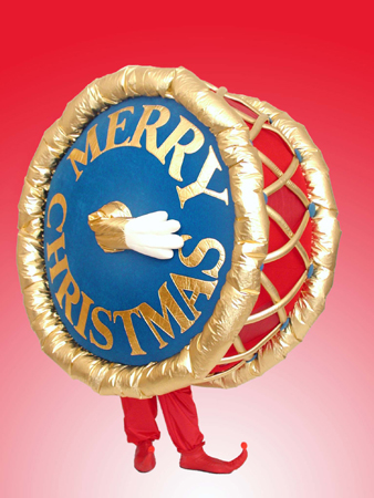 Christmas Drum mascot costume rental