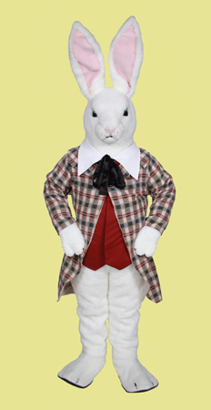 Elegant White Rabbit Rental Mascot Costume