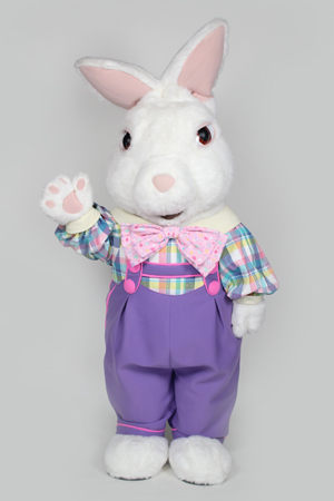 Jumpsuit Fuzzy Bunny mascot costume rental