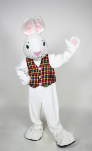 Mr. White Bunny mascot costume rental