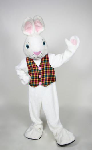 Mr. White Bunny mascot costume rental