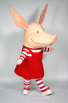 Olivia mascot costume rental