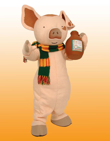 Pig (If you give a pig a pancake) mascot costume