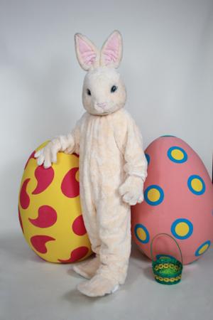 Peach Bunny mascot costume rental