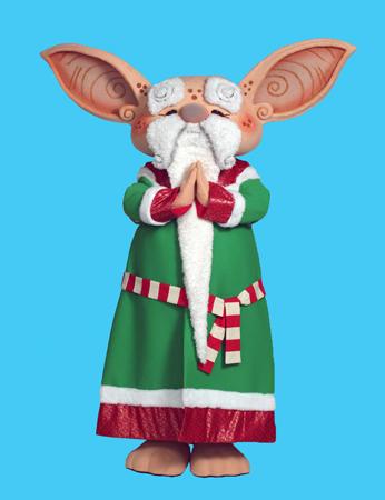 Santas Sensei mascot costume rental