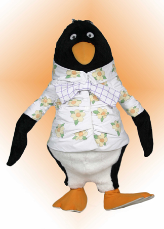 Tacky the Penguin mascot costume