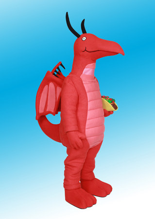 Taco Dragon mascot costume rental