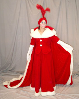 Auntie Clause Mascot Costume