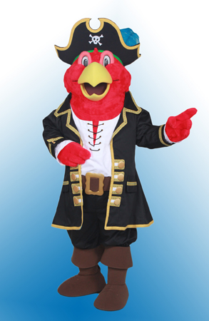 Pirate Parrot custom mascot by Costume Specialists for Landry's