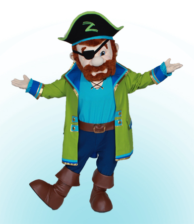 Pirate Pete custom mascot by Costume Specialists for Columbus Zoo