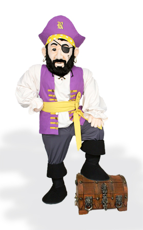 Rocky Raider custom mascot by Costume Specialists for Reynoldsburg City School