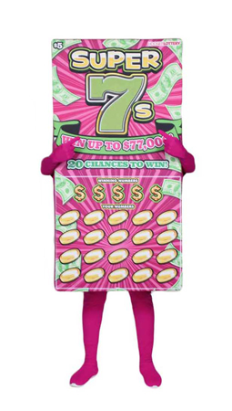 Super Seven Custom Mascot for Hoosier Lottery by Costume Specialists