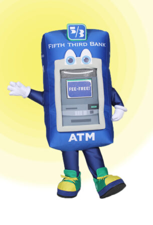 Blue Fifth Third ATM Machine Mascot Costume by Costume Specialists
