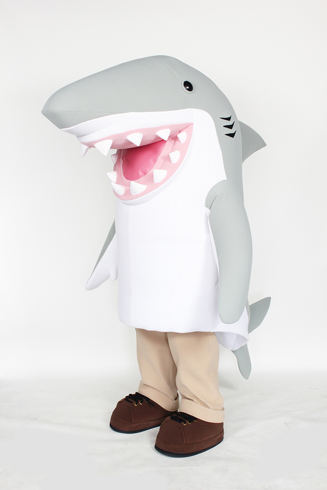 Grey Shark Mascot for Fifth Third Bank by Costume Specialists
