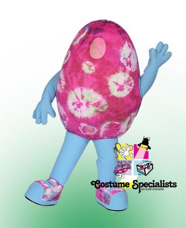 Multi Tie Dye Egg Mascot Costume